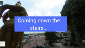 360 pano 8 batu caves middle stairs kl malaysia-