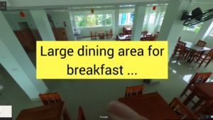 Euro boutique hotel Chumphon Thailand 6th floor Breakfast area-