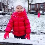 Lieke 1st snow 4 2016